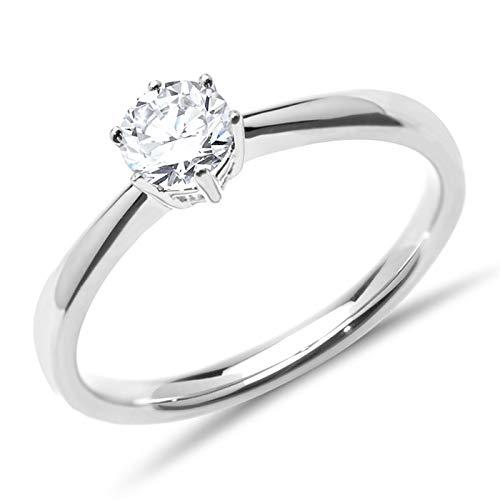 Verlobungsring Diamant 0,5 ct. Weißgold VR0145