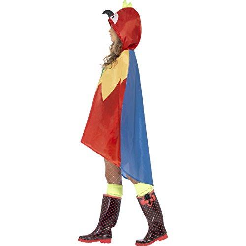 Amakando Vogelkostüm Papageienkostüm Regenponcho Cape Papageien Party Poncho Papagei Kostüm Karnevalskostüme Tier Vogel Tierkostüm Papageikostüm Regencape
