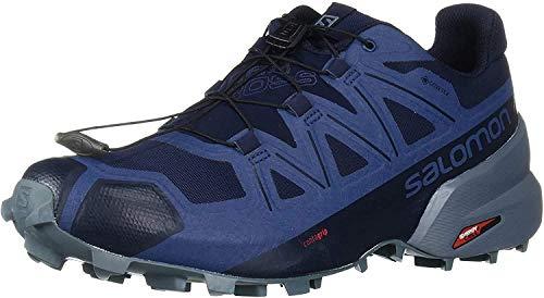 Salomon Men#039s Speedcross 5 GTX Trail Running Navy Blazer/Stormy Weather/Sargasso Sea 95