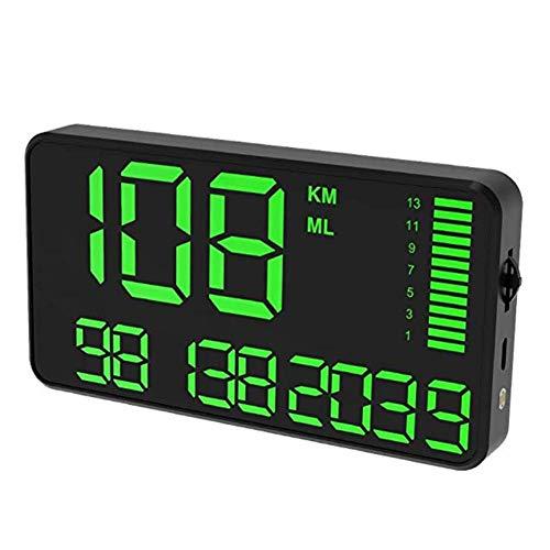 Createjia 5.5in Tachometer Großbild Digital Universal GPS Head Up Display Tachometer Auto LKW Kilometerzähler Mit Übergeschwindigkeitswarnung Auto Uhr - Schwarz