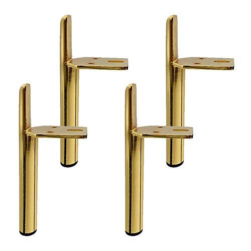 Pies de Muebles Dorado Patas para Mueble de Metal para Mesa de Té-TV Gabinete Patas de Cama Hierro Accesorios del Hardware(gold18cm)
