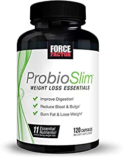 ProbioSlim Weight Loss Essentials Complete Daily Digestive Health and Weight Loss Probiotic Supplement for Women and Men w...