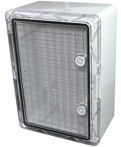 AERZETIX - Armario/cuadro eléctrico de pared 350x150x250mm puerta transparente - fijación en aplique - caja de distribución/protección - índice de estanqueidad IP65 - C48635
