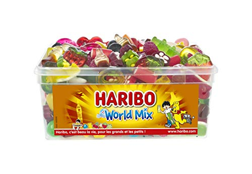 HARIBO Worldmix Assortiment de Bonbons Boîte de 900 g 1 Unité