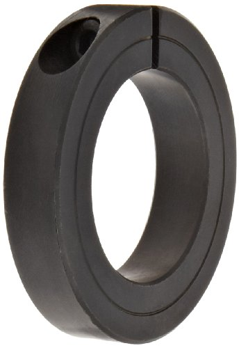 Climax Metal H1C-112 Shaft Collar, One Piece, Black Oxide Finish, Steel, 1-1/8' Bore, 2-1/8' OD, 1/2 Width, With 5/16-18 x 5/16 Clamp Screw