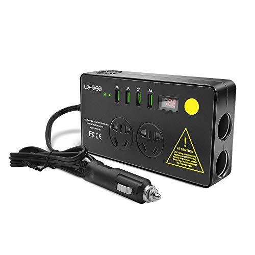 KOYOSO 200W Inversor de Corriente, 12V a 220V Transformador con 4 USB Puertos,...