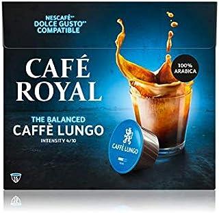 Café Royal Lungo Capsules Compatibles avec Système Nescafé R Dolce Gusto Intensité 4/10 Certifié UTZ 100% Arabica 96 g
