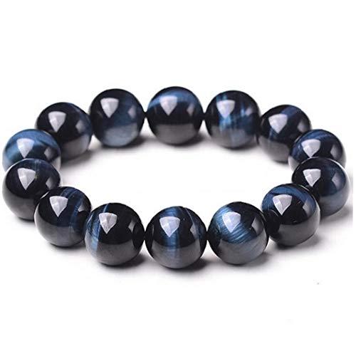lujiaoshout Joyas de Piedras Preciosas Perlas 1PC Pulseras de Piedra Natural Roca de la Lava del Tigre del Ojo Azul Pulsera Boho para Hombres y Mujeres