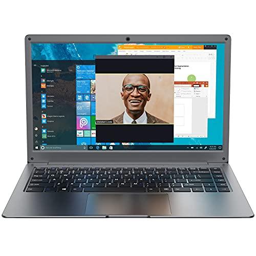 Jumper Laptop 13.3-Zoll (Microsoft Office 365, 4 GB DDR3, 64 GB eMMC, Intel Celeron N3350, Windows 10 Home, Intel HD Graphics 500, Dualband Wlan, HDMI, Webcam) Qwertz DE Tastatur Notebook
