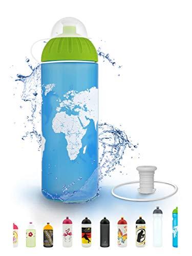FreeWater Trinkflasche, 700ml, Welt: schadstofffrei, spülmaschinengeeignet, auslaufsicher, langlebig