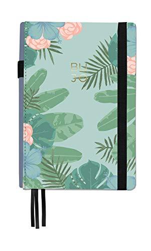 Libreta Bullet Journal Tropical/Libreta Punteada- 14,5 x 21 cm- Encuadernación Suisse- Tapa Dura en Tela- 188 Páginas en Papel Premium (verde)