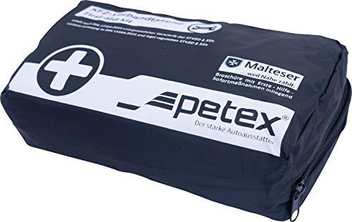 Petex 43930004 Kit di Primo Soccorso Contenuto Secondo Lo Standard DIN 13164, Nero