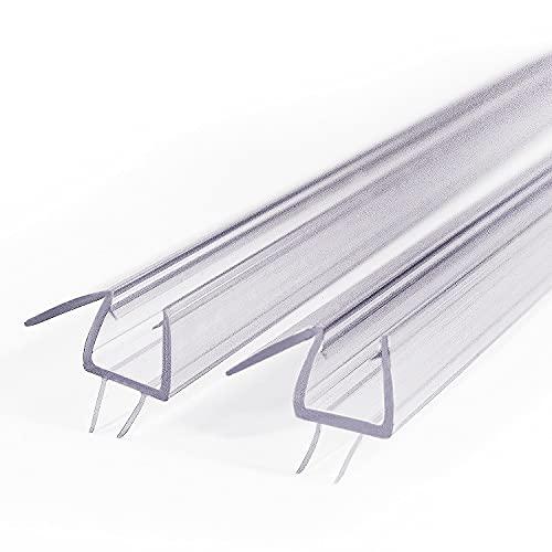 2 X Frameless Shower Door Bottom Seal Sweep Stirp 36 Inch Long for 1/4 Inch Glass