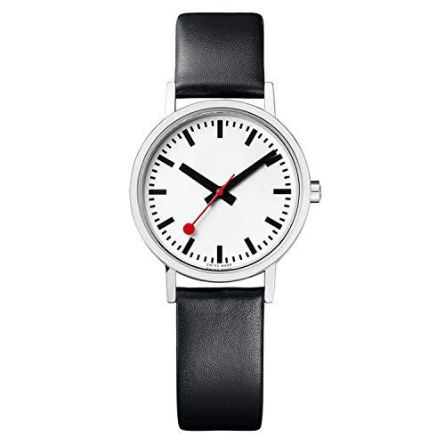 Mondaine Classic -Schwarze Lederuhr Damen, A658.30323.16OM, 30 MM