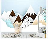 Vinilos Decorativos Pared Vinilos De Pared Decorativos Vinilos Infantiles Pared de fondo nórdica de la habitación de los niños de dibujos animados abstractos lindo nieve montaña
