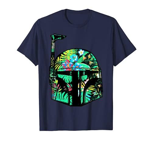 Star Wars Classic Hawaiian Print Boba Fett Helmet T-Shirt C1