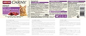 Nourriture pour chat GranCarno Adult d'animonda, nourriture humide pour chat adulte, bœuf + agneau, 6 x 200g