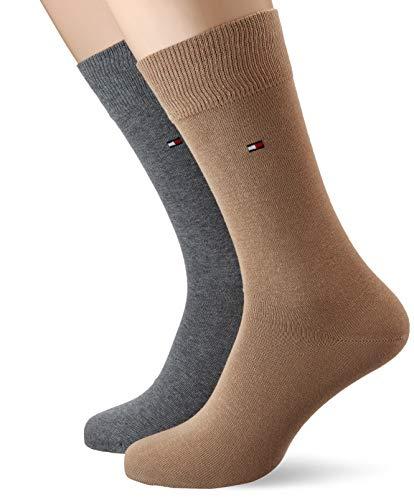 Tommy Hilfiger Herren TH MEN CLASSIC 2P Socken, Braun (Khaki 006), 43-46 (2er Pack)