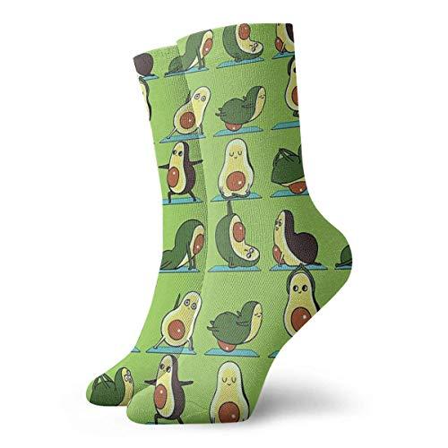 Calcetines de yoga de aguacate para mujer, calcetines divertidos de 30 cm