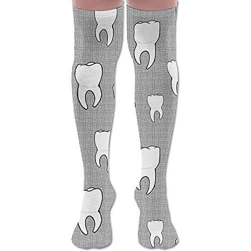 Jesse Tobias Zähne Crosshatch Unisex Compression Socks für Laufen, Krankenschwestern, Schienbeinschoner, Reisen, Flug, Schwangerschaft & Mutterschaft