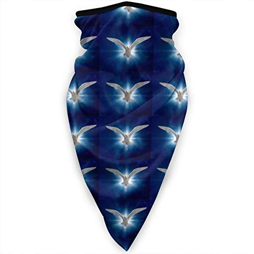 ASDAH winddichte donkerblauwe Marokkaanse vierkant-gaas-gezichtsmasker bandana voor fiets- en motorfiets-multifunctioneel sjaal