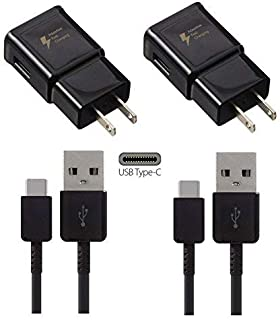 2 Pack Quick Charge 3.0 Wall Charger Fast Travel Adapter [2Plug+2Cable] For Samsung Galaxy S8 S9 Note8 LG G7 ThinQ G5 G6 V20 V30 HUAWEI P9 P10 Mate9
