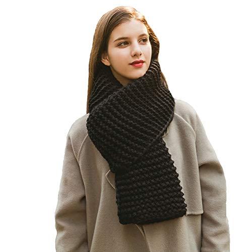 Adelina Unisex gebreide sjaal voor dames en heren knuffelige ronde sjaal loop sjaal hooded snood nek warmte warmies winddicht sport hals warmte slangdoek