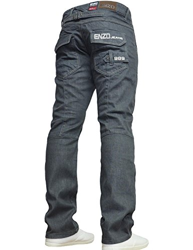 Enzo BNWT New Mens Jeans Blue De...