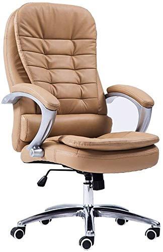 GSN Inicio silla del escritorio de oficina silla de ordenador personal silla de doble capa de diseño de alta Back Seat de la PU de la silla reclinable giratorio fijo Apoyabrazos cojinete 150 kg Peso s