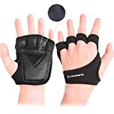 Weight-Lifting Workout Exercise Fitness Gloves, Callus-Guard Gym Barehand Grip, Support Alpha Cross-Training, Rowing, Power-Lifting, Pull Up for Men & Women