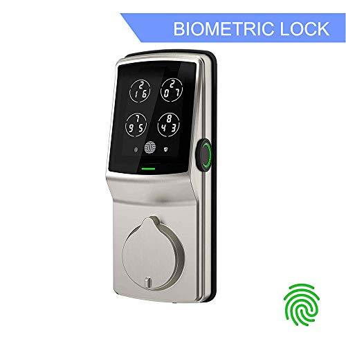 Lockly Bluetooth Keyless Entry Smart Door Lock (PGD728F SN) Patented Keypad Deadbolt Lock | Advanced...
