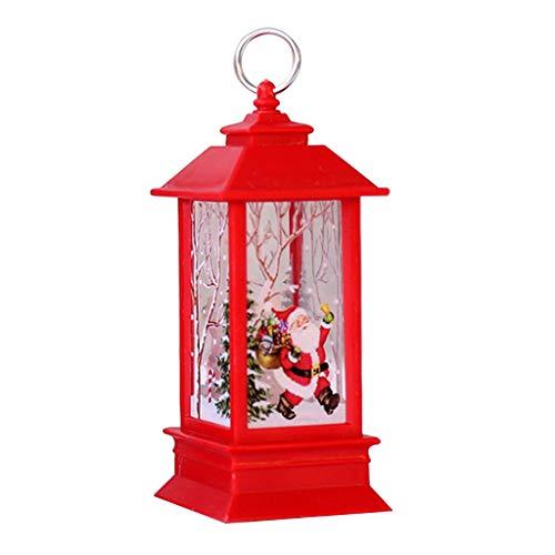 Supefriendly Luz de llama de Navidad led de alce, nieve/Papá Noel patrón decoración del hogar para interior al aire libre, decoraciones de boda, fiesta, dormitorio