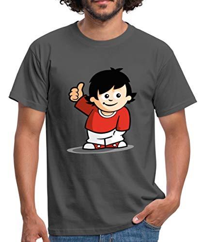 Mainzelmännchen Fritzchen Männer T-Shirt, M, Graphite