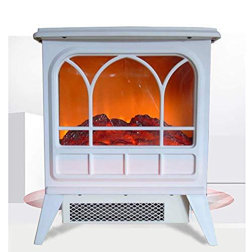 Elektrische open haard verwarming, vrijstaande open haard oververhittingsbeveiliging oven met realistische vlam - 1800 W