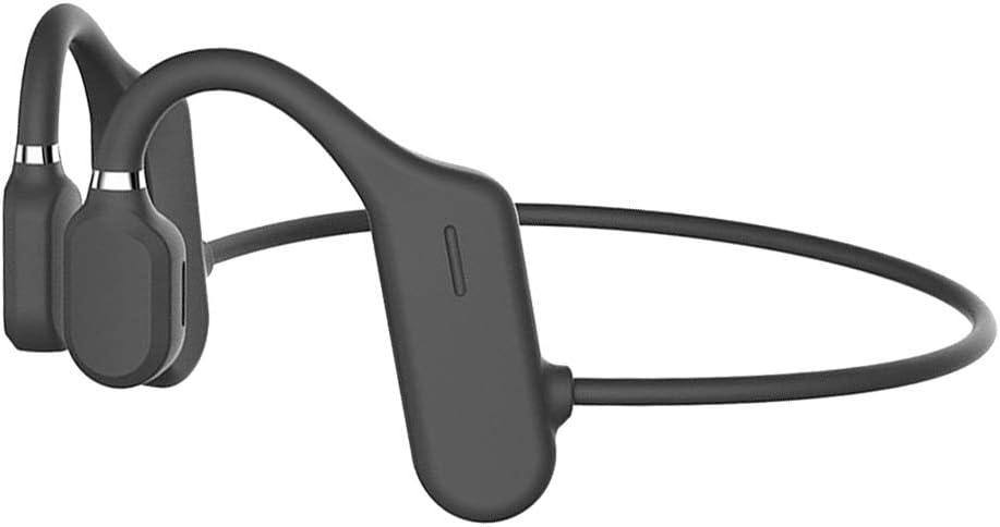 freneci Bone Conduction Headphones Bluetooth V5.0, DYY-1 Sports Open Ear Wireless Headset Sweatproof w/Mic for Cycling Running Driving Gym - Black