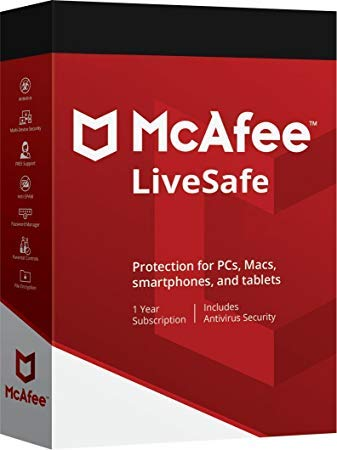 McAfee LiveSafe Unlimited 1 Year 2019, Email same day delivery