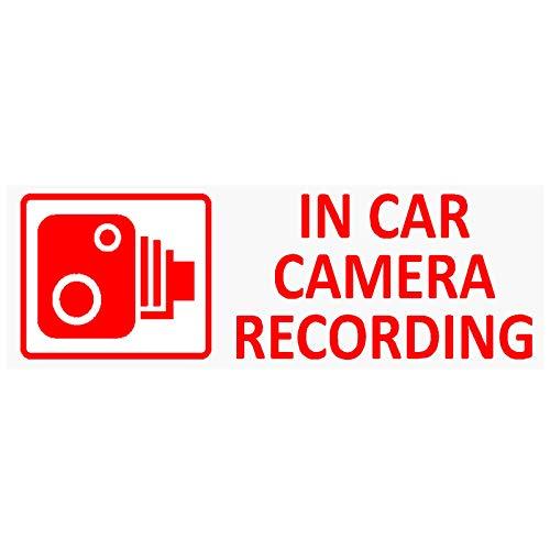 5 petits autocollants « In Car Camera Recording » (français non garanti) pour camion, taxi, bus, voiture