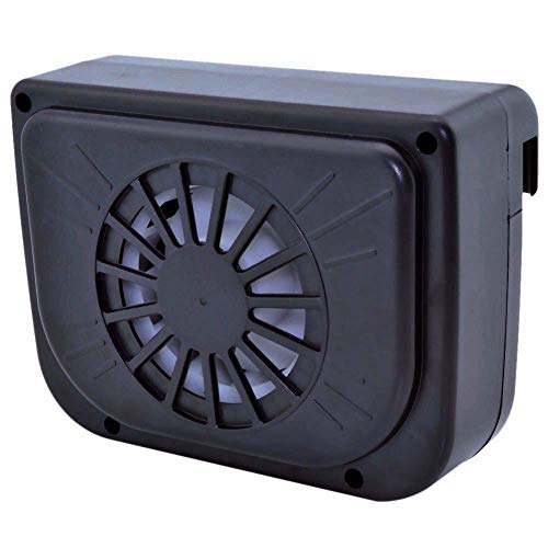 TKSTAR Ventilador solar portátil para automóvil, sistema de aire acondicionado mini, ventilador de enfriamiento de verano, bomba de circulación de aire, ventilación del radiador con ventilación, ventilador de extracción de calor de energía solar para parabrisas de automóviles