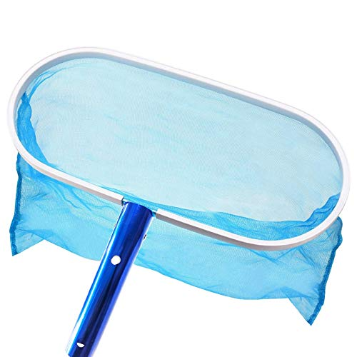 UMARDOO Swimming Pool Skimmer Net, Heavy Duty Deep-Bag Swimming Pool Leaf Net Skimmer Rake with Medium Fine Mesh for Cleaning Swimming Pools,Hot Tubs,Spas and Fountains