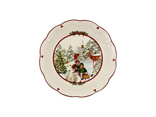 Villeroy & Boch Toys Fantasy Schale groß, Schittenfahrt, Premium Porcelain, weiß, 24,5 x 24,5 x 4 cm
