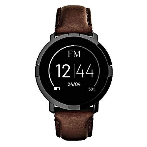 smartwatch ios FLORENCE MARLEN | Design Italiano | Smartwatch Uomo-Donna FM1R Milano Cinturino Pelle Marrone | Orologio