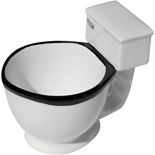 Toilet coffee mug filled with candy
