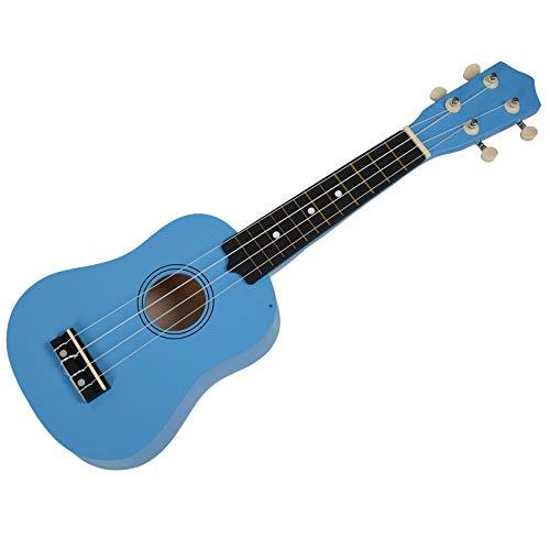 Breezeu 21 Zoll Sopran Ukulele 4 Saite Hawaiian Gitarre Ukulele + Saite + Plektron fuer Anfaenger Kind Geschenk (hellblau)