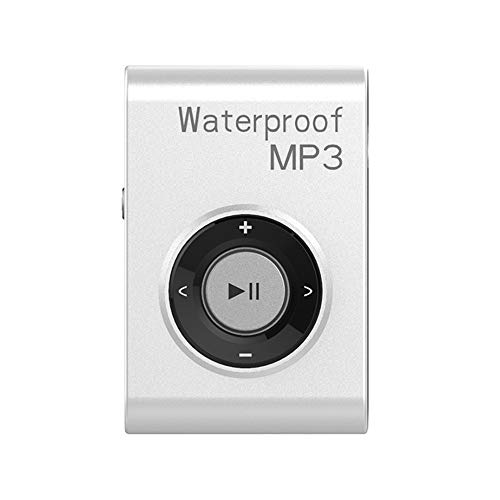 IPX8 Waterproof Swimming MP3 Player Built-in 8GB MP3 Music with FM Radio Hi-Fi Headphone for Diving Surf Underwater Sports Running - White