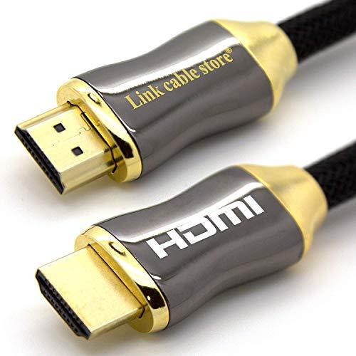 LINK CABLE STORE - ORION - 1,5 M - Câble HDMI 1.4 - 2.0 - 2.0 a/b - Professionnel - 3D - Ultra HD 4K 2160p - Full HD 1080p - HDR - ARC - CEC - High Speed par Ethernet - Connecteurs plaqués Or