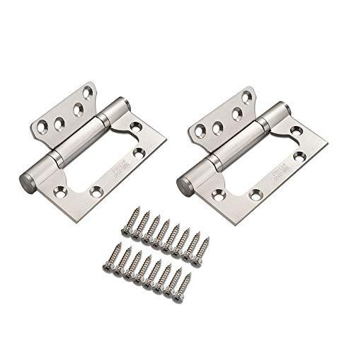 Home - Cerniere per porta in acciaio INOX di alta qualità, resistenti alle intemperie, movimento liscio e silenzioso, cuscinetti silenziosi, coppia di 2 pezzi, 100 mm