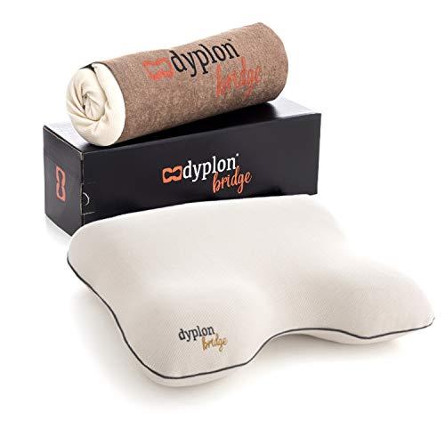 Dyplon Bridge | Orthopädisches Kissen | Memory Foam | Kissen für 4 Schlafpositionen | Kissenüberzug 100% Natürliche Baumwolle | Atmungsaktiv | Anti allergisch