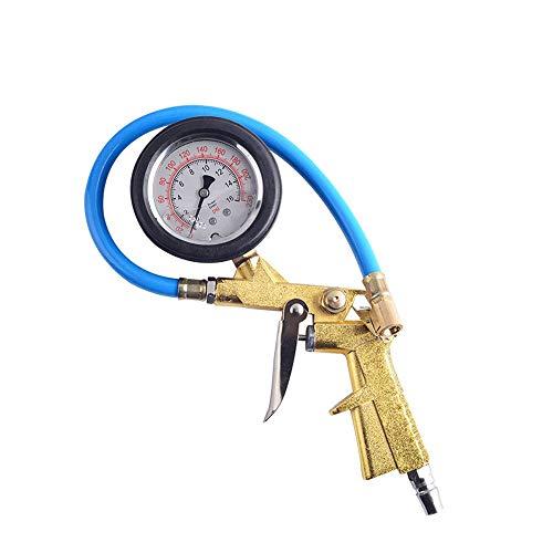 TERMALY Medidor de Presión de Neumáticos Digital para Automóvil, Pistola de Presión de Neumáticos, Conector para Inflador de Neumáticos,B