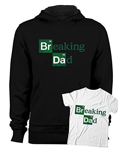 Tutte Le Taglie Uomo Donna Maglietta by tshirteria Breaking Dad Coppia t-Shirt Padre Figlio Festa del pap/à-Breaking Dad