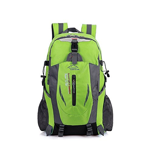 Anano Mochila de senderismo 40L resistente al agua, mochila de montañismo, mochila para viajes, escalada, ciclismo, correr, camping, deportes al aire libre, verde